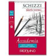 Bloc de papier croquis Accademia spirale 50 feuilles 120g